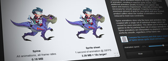 Spine: 2D-Animationssoftware für Spiele